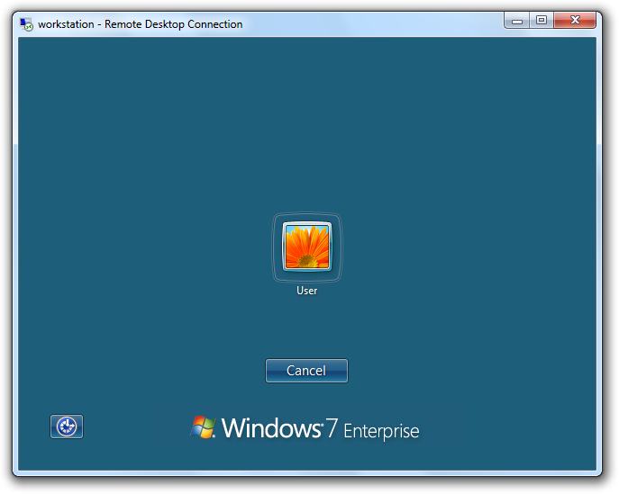 Windows 7 Terminal Services Session